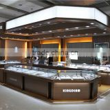 wholesale jewelry store interior design idea used glass display showcase kiosk for shopping mall