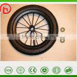 8/12/14 inches alloy Carbon steel PU foam bicycle wheel ,pneumatic bike wheel ,Baby carrier wheels