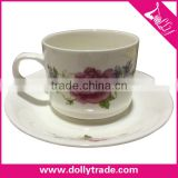 Cheap Bulk Ceramic Chinese Tea Cups, Wholesale White Porcelain Custom Printed Ceramic Tea