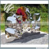 Famous modern sculpture abstract design metal outdoor decor