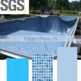 High quality waterproof swimming pool plastic liner / blue mosaic pvc swimming pool liner