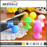 Universal portable silicone cell phone holder