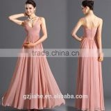 New fashion chiffon design sleeveless backless design long party evening dress for women