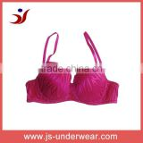lady underwire bra wholesale sexy puch up brassiere