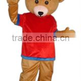 red jacket bear mascot costume
