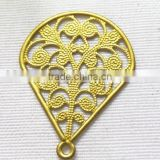 DIY filigree teardrop earring jewelry accessories brass teardrop shoe bag hair accessories