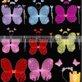 wholesale single nylon butterfly glitter fairy wings girls dress up costume wedding favors