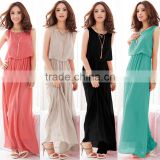 High quality long elegant Chiffon Dress seaside Beach Long Maxi Dress