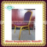 Hot-Sell Cheap Classic Design Old Fashion cushioned aluminium Banquet Stacking Chairs