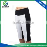 High Quality Black High Waistband Half Slim Fit Women Golf Shorts