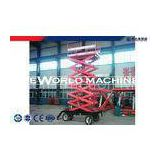 Vertical Folding Four-wheel Trailing mobile hydraulic scissor lift 6 - 20m