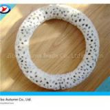 White Warm Leopard Grain Steering Wheel Cover