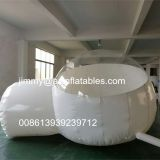 hot sale outdoor commercial transparent inflatable camping tent,half clear inflatable bubble tent for sale