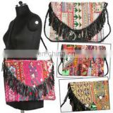 Banjara Laptop Clutches Bag Hobo Tote Leather Tribal Gypsy indian Banjara clutch kutch embroidery Handmade Designer