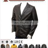 OEM service leather long coat, Top quality leather coat for winter
