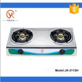 2 burner stainless steel kitchen appliance table Gas Stove (JK-201SH)