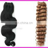 "New!!Hot sale factory cheap price high quality 100% human remy 24"" hair extensions blonde"