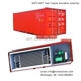 movable freezer equipped with full liquid evaparator fast cold freeze container