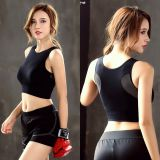 No Steel Mesh Mesh Stitching Back Sports Bra, quick-dry shock-proof large size fitness yoga running sports underwear