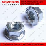 304 stainless steel flange nuts M4 flange nuts