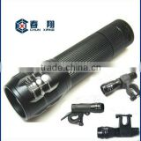 water proof lens zoom light cree led flashlight