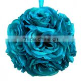 2015 turquoise flower ball artificial for wedding decor