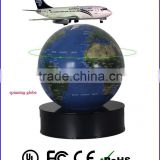 Boing 787 747-8 commerial plane airplane flying magnetic levitation plane on globe from Cogidea Technology