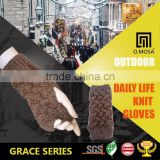 OM2935 O.MOSA 3G Customize Acrylic Alpaca Polyester Cross Cable City Knitted Wristlets Gloves