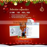 2014 New China products for sale Mordern Christmas gift paper greeting USB business card