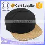 Wholesale Custom Design Blank 100% Wool Snapback Hat Cap / 5 Panel Hats with Custom Brim