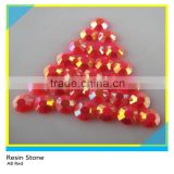AB Red Loose Flatback Epoxy Stone For Decoration Wholesale Hotfix Round Resin Stone ss6-ss40
