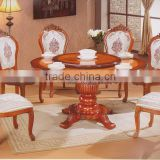 Antique dining set solid wood in dining chair for European countries                                                                         Quality Choice
