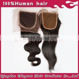 "Factory Hot Selling Natural Colour Unprocessed Brazilian hair Pieces,14""/12"" Closure"