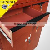 2016 kening steel furniture ltd high range two tier steel locker with imitate wood surface