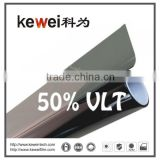 50% VLT car window tinting,self-adhesive protection film for car,99% UV protection solar window film