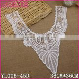 36*36cm Water Suloble Floral Nylon Small U shape Woman cothes collar accessory