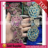 2016 african heavy lace fabric ethnic necklace for fashion dress embroidery trim                                                                         Quality Choice