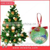 Christmas decoration ball, Can be hung on the tree, 65mm christmas ball(Foam+Sticker+polyiesin)