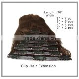 Clip in hair extensions factory price and fashion style in alibaba 100 human hair                                                                         Quality Choice                                                                     Supplier's Cho