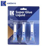 KRONYO waterproof for plastic shoe repair materials super glue 502