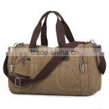 New vintage men canvas travel bag, large capacity handle/shoulder duffel bag                                                                         Quality Choice