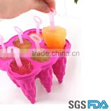 2016 NEW Design DIY silicone ice cream tool/ice cream maker/ice popsicle mold                                                                         Quality Choice