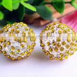 AAA Quality Alloy large crystal 20mm berry rhinestone gumball pave charm beads for DIY jewelry making!