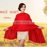 OEM custom logo fashionable solid colors winter warm wool cashmere plus size scarf shawl wrap stole blanket women made in china