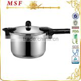 Outdoor camping 18 10 stainless steel pressure cooker safety silicon seal capsulated induction bottom MSF-3773