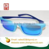 Blue entire silicone high quality sunglasses for Kids