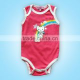 2016 cotton body suit for baby Angel cat printing baby clothes