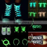 fantastic flat led shoelace with luminous polyester                                                                         Quality Choice