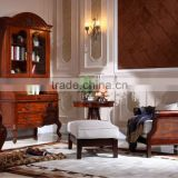 bedroom furniture bookcase/wood carving bedroom furniture/American solid wood furniture AS9
