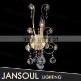 chinese tiffany style cheap flower shape k9 crystal balls drop chandelier lighting fixtures wall lamp for hotel